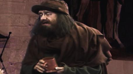 Sylvester Hands, a beggar played by Paul Valentine. As seen in Series 7 of Knightmare (1993).