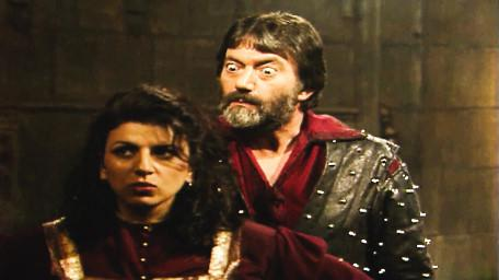 Treguard the Dungeon Master, played by Hugo Myatt. As seen in Series 7 of Knightmare (1993) with Majida (Jackie Sawiris).