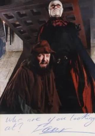 A 1994 character shot of Lord Fear (Mark Knight) and Sylvester Hands (Paul Valentine).