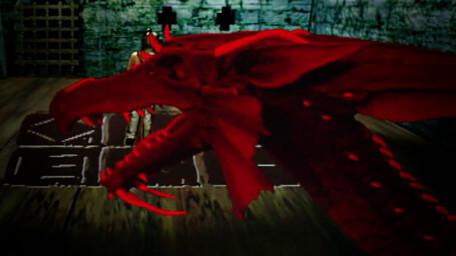 The dragon, Bhal-Shebah, as seen in Series 8 of Knightmare (1994).