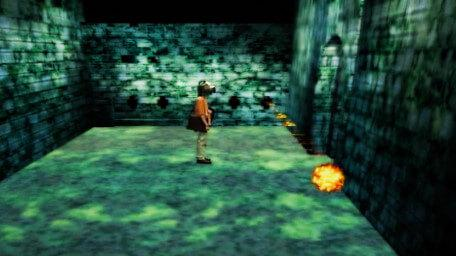 The Fireball Alley challenge, as seen in Series 8 of Knightmare (1994).