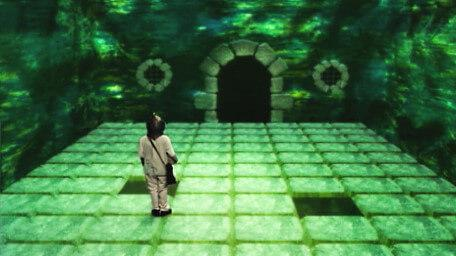 A Fireball Room in Level 3 from Series 8 of Knightmare (1994).