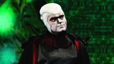 Lord Fear, the Leader of the Opposition, as played by Mark Knight in Series 8 of Knightmare (1994).