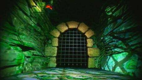 The corridors inside Tower of Marblehead, as seen in Series 8 of Knightmare (1994).