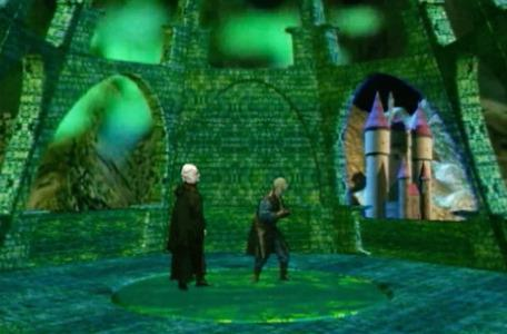 Knightmare Series 8 Team 1. Lord Fear and Lissard marvel at the view from the new tower of Marblehead.