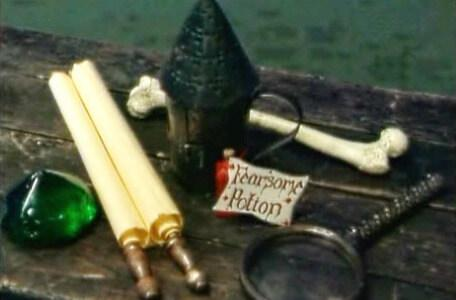 Knightmare Series 8 Team 2. The Level 2 clues include a fearsome potion and a green gem.