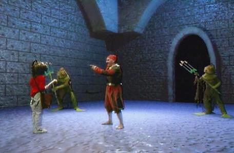 Knightmare Series 8 Team 2. Daniel takes out a bone when approached by Raptor and two miremen.