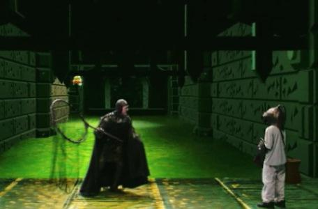 Knightmare Series 8 Team 3. Snapper Jack approaches Nathan in the Sewers of Goth.