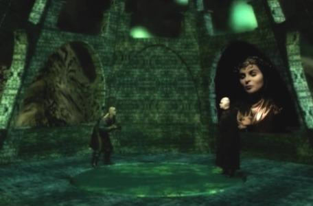 Knightmare Series 8 Team 2. Lord Fear turns his back on the sorceress, Maldame.