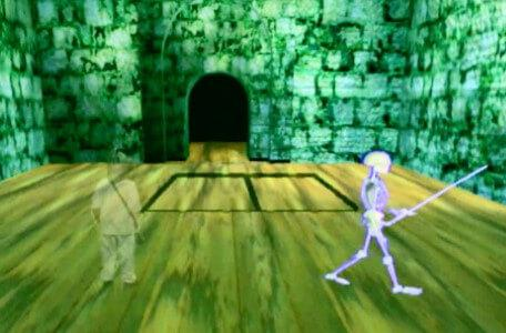 Knightmare Series 8 Team 3. Nathan turns into a shadow to pass a skeletron undetected.