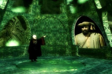 Knightmare Series 8 Team 3. Lord Fear gets irritated with Honesty Bartram in his viewing screen.