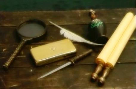Knightmare Series 8 Team 3. The Level 2 clues includes gold and a sight potion.