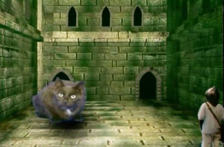 Knightmare Series 8 Team 3. Nathan meets Hordriss disguised as a big black cat.