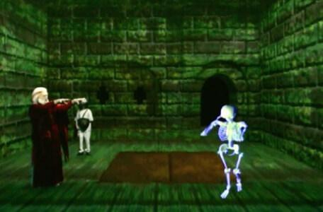Knightmare Series 8 Team 3. Hordriss uses magic to reveal and dismantle the skeletron.