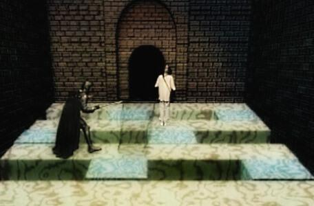 Knightmare Series 8 Team 4. Snapper Jack pursues Michael through a floor puzzle.