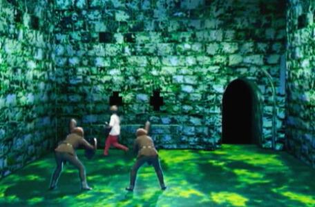 Knightmare Series 8 Team 5. Rebecca runs the wrong way as goblins close in.