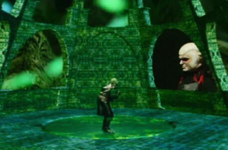 Knightmare Series 8 Team 5. Lord Fear appears in his viewing globe to ask Lissard if the ruse has worked.