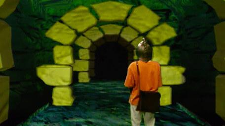The Snapdragon Tunnels, as seen in Series 8 of Knightmare (1994).