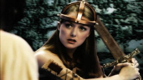 Stiletta, the Warrior Thief played by Joanne Heywood in Series 8 of Knightmare.